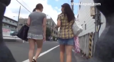 Amazing Japanese Schoolgirl Sticks Out Her Pussy