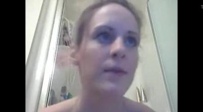 Blue- Eyed Cam Girl Fucking A Bald Guy