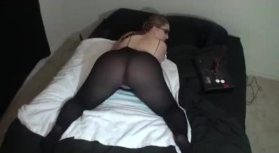 BBW Blonde In Kosed Dress Gets Down And Dirty With A Very Flexible Girl