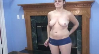 An Amateur Chick Got Down On Her Knees In Front Of Her Roommate And Gave Him A Nice, Deep Blowjob