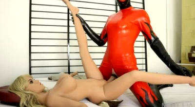 Blonde Fuck Doll, Aniston Is Rubbing Her Pussy And Dripping Before Getting Cash For Her Services