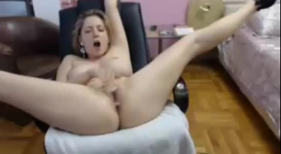 Flexible Blonde Chick With Small Tits Is Offering Her Hairy Pussy To Boyfriend, Instead Of Sucking Him
