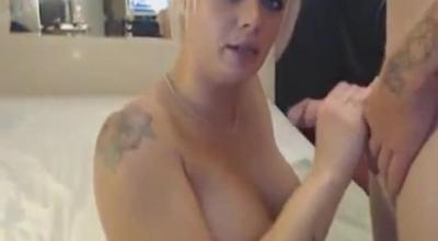 Amateur Babe Sucks And Masturbates On Cam
