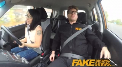 Slutty Driving Instructor Is Using His Position To Fuck A Hot Wife While Her Husband Is In His Office