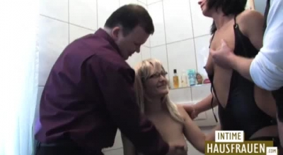 Naughty German MILF And A Horny Client