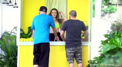 Dani Daniels Is Slowly Taking Off Her Clothes And Trying Not To Moan Too Loud While Cumming