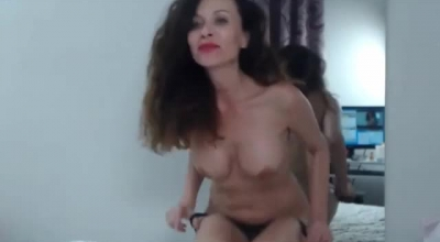Adorable Brunette Mature Mom Tries To Toy Her Soft Pussy