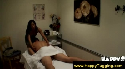 Slim Asian Masseuse In A Tight Dress