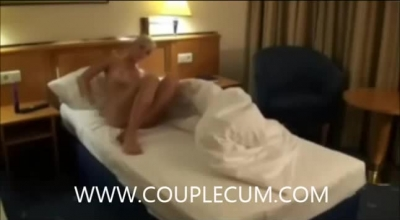 Kinky Girl Like To Play With Her Lover's Dick, Because It Excites Her A Lot