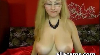 Delightful Blonde Lady Is Giving Free Sex Lessons To Horny Men, In Front Of The Camera