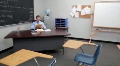 Petite Schoolgirl Is Getting Fucked In The Classroom, Instead Of Studying For Her Exams