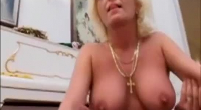 Mature Blonde Is About To Suck Her New Bestie's Cock, While On The Dance Floor