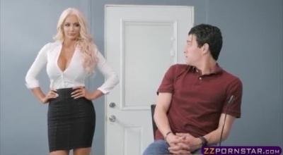 Busty Blonde Pornstar Gives An Erotic Massage
