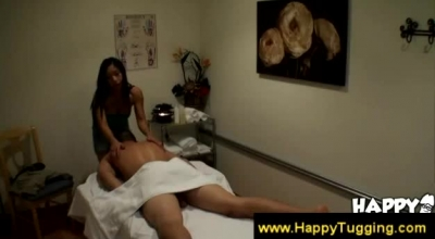 Gorgeous Asian Masseuse Spoiling Her Client By Touching His Hard Cock