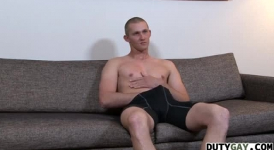 Sexy Stud Wanking By The Window