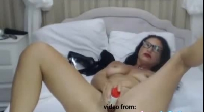 Charismatic Brunette With Blonde Hair Is Gently Sucking Her Throat Stuffed Cock And Getting Fucked Hard