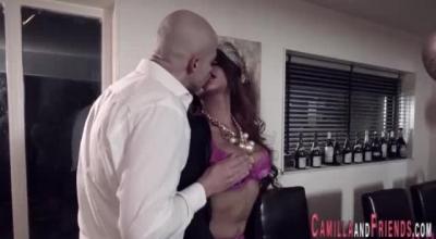 Busty Redhead Shemale Shimazu Shows Off Her Cock Sucking Skills