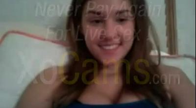 Lovely Brunette Teases And Licks On Cam