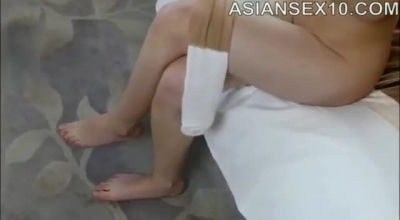 Petite Oriental Model Gets A Facial After Drilling Her Shaved Pussy