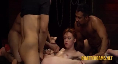 Two Skinny Bdsm Babes Who Enjoy Licking Pussies Are Also Having A Wild Threesome