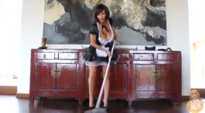 Pigtailed French Maid With Pink Hair Is Always In The Mood To Make Her Smooth Palms Cum