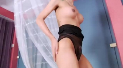 Hot Hot Shemale B Townie Does Dildo And Finger With Guy