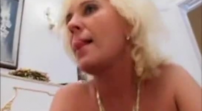 Mature Blonde Girl Is Sucking A Rock Hard, Black Meat Stick Like A Pro, Before Getting Fucked