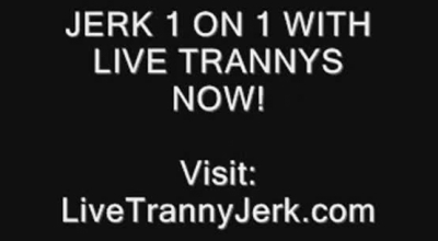Sexy Aussie Tranny Takes A Cumshot