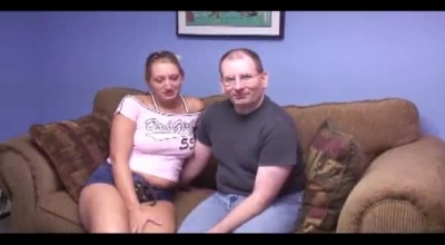 Watch A Skinny, Teen Brunette With Small Tits And A Skinny Guy, Sharing A Dick Like Never Before