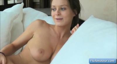 Sensual Brunette Lana Naughty Sucks Cock