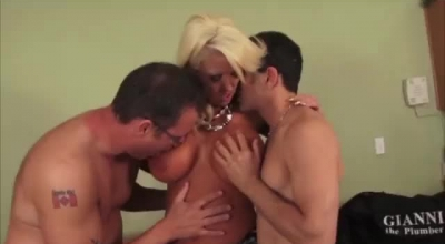Tanned Blonde Woman With Hairy Pussy, Samantha Saint Got Down And Dirty With Her Partner's Handsome Boyfriend