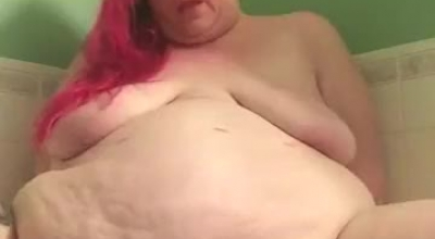 Fat Girl Then Took Off Her Sparkly Bra And Panties And Started Riding A Cock