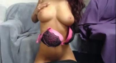 Oriental Brunette Masturbates In Her Office