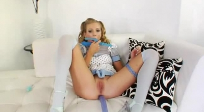 Cunnilingus Toying With Hands On Strap On Play Pussy