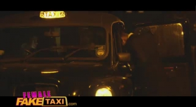 Fake Taxi Driver Provokes His Passenger And Seduced All The Way Until She Made Him Fuck Her Pussy