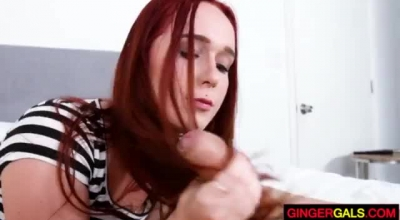 Cute Ginger Teen In White Stockings Customer Likes It When Some Tay Her Pussy Balls Deep And Intense Until Hard Pounding