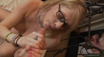 Allie James And Paige Owens Are Having A Threesome With Their Neighbor, In His House
