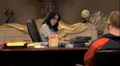 Naughty Secretary Is Giving A Nice Handjob And Fingerjob To Her Boss, While His Wife Is Working