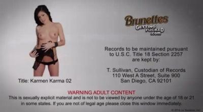 Karmen Karma Gets Stocking Pigtailed