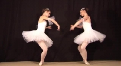 Ballerina With Panties And High Heels Is Getting Her Feet Licked By A Horny Dancer