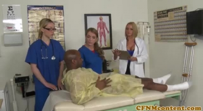 CFNM Housewives Nurse Jacking Young Stud From The Back
