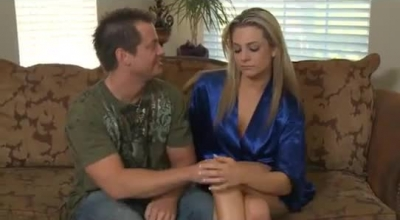 Bailey Blue Is Wearing Blue, Fishnet Pantyhose In The Kitchen And Pulsing Her Clit While Masturbating