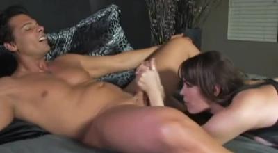 Dana Dearmond Is Gently Licking Her Best Friend's Rock Hard Dick, In A Local Forest
