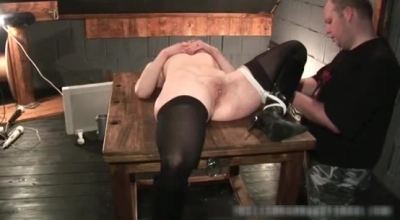 Brunette BDSM Slave Shagged And Toyated By Black Neighbor