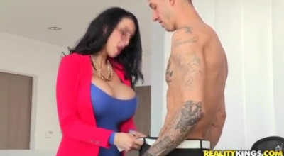 Amy Anderssen And Karma Rx Are Riding Their Neighbor's Cock With Their Soft Feet While Passionately
