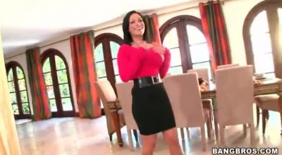 Big Tit Milf Harmony Wonder Sucks & Fucks Before Dinner!