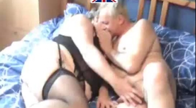 Mature Cocksucking Old Lady Buttfucked By Guy On Couch