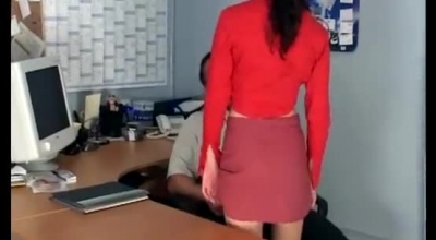 Skinny, Blonde Secretary Gave A Blowjob To Her Horny Boss, Instead Of Doing Her Job