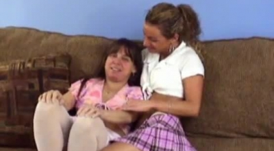 Mature Woman With Short, Hairless Legs, Sandra Chechik Gave A Perfect Titjob To Her Husband