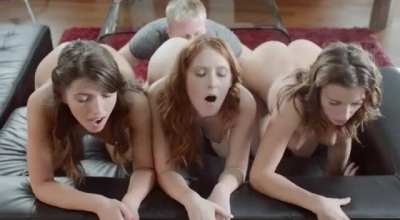 Busty Babes Make Anal Creampie Using Toys And A Strapon